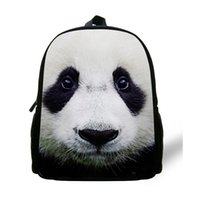 Wholesale Mochila Zoo - 12inch Zoo Panda Backpack Animal Prints Animal School Bags For Kids Mini Casual Backpack Child Animal Mochila Infantil Menina