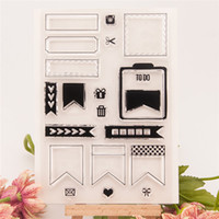 Wholesale Decoration Stamp - Dialog Box Frames Transparent Clear Silicone Stamp Seal Sheets DIY Fun Kids Gifts Scrapbooking Cards Decoration