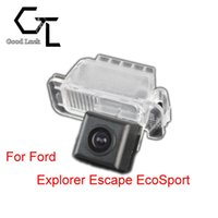 ford backup camera оптовых-Для Ford Explorer Escape EcoSport беспроводной автомобиль авто обратный резервный CCD HD камера заднего вида парковка помощь