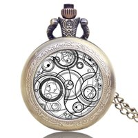 Wholesale Wedding Watches For Men - Hot Selling UK TV Series Doctor Who Design Pocket Watch Chain Pendant Watch Gift for Men Women Wedding P1140