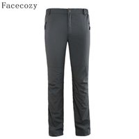 Wholesale Uv Pant Quick Dry Camping - Wholesale-Facecozy Men Summer Outdoor Hiking Pants Quick Dry Climbing Trousers Solid Zipper Pocket Breathable Trekking UV Sweatpant
