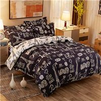 BZ605 Love Pattern Kinder Bettwäsche Set Duvet Cover Flaches Blatt Kissenbezug Bettdecke Bett Set Single Doppelzimmer Königin König