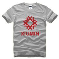 Wholesale Exo Wolf 88 Shorts - WISHCART EXO wolf 88 Xiumin T Shirt Men Camisetas Hombre Fashion 2016 Mens Short Sleeve Cotton T-shirt Tshirt Tee