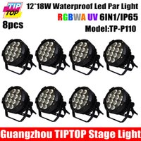 220V outdoor wedding stage - Discount Price Unit x18W Waterproof Led Par Light in1 RGBWA Purple DMX512 Disco Party Club Pub Show Stage Wedding Outdoor
