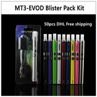 Wholesale Evod Battery Pack - MT3-EVOD Blister Pack Kit - 50 pcs new electronic cigarette starter kit with MT3 atomizer and 650 900 1100 mAh EVOD battery vaporizer pen