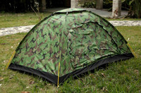 Wholesale Tactical cm Outdoor Portable Single Layer camping Tent Camouflage for Person Waterproof Beach Tents Camping tourism travel wil