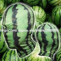 Wholesale Green Face Scary Halloween - watermelon face mask watermelon head mask Balaclava Fruit mask