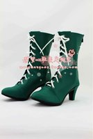 Wholesale Anime Sailor Moon Kino Makoto Sailor Jupiter Cosplay Boots costume shoes Custom Made Halloween