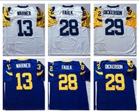 Rugby sports dickerson - Best Quality Throwback Classic Retro Jersey kurt warner marshall faulk eric dickerson Men Sport Jerseys Stitched Embroidery Name