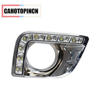 12v CAR LED DRL Daytime Running Light com buraco de neblina para Toyota Prado FJ150 LC150 2010 2011 2012 2013 Land Cruiser 2700/4000