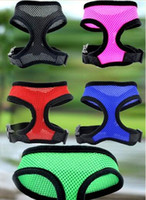 Brand new Pet dog Nylon Mesh Harness Strap Vest Collar Petit taille moyenne Dog Puppy Comfort Harness 7 couleurs