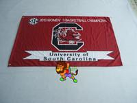 laiton sud achat en gros de-Université de la Caroline du Sud Gamecocks Flag vente chaude marchandises 3X5FT 150X90 CM Bannière en laiton trous métalliques
