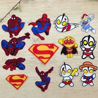Wholesale Clothes Brand Iron Patches - 10pcs lot Embroidered Iron Sew on Badge Brand Patches Appliques DIY Accessories for Bags Clothes