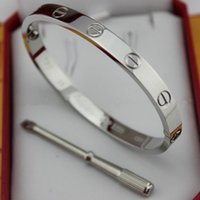 Wholesale Punk Jewelry For Men - Famous brand Classic style 316L stainless steel brand love punk bangle with screwdriver for man and women jewelry