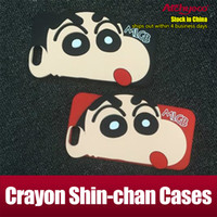 Wholesale Chan Wholesale - For Iphone 7 Case Silicone Case Crayon Shin-chan Case for iphone 7 plus 6s plus Samsung Note 7 S6 S7 Opp Package