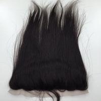 13 schließung großhandel-Spitze Frontal Closure brasilianische gerade 4 * 13 Ohr zu Ohr Spitze Frontal Echthaar Extensions Lace Closure Haar Produkte
