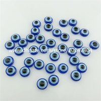 Wholesale Evil Eye Loose - 19965 150pcs Loose 8mm Blue Evil Eye Acrylic Flatback Cabochon Jewelry Findings