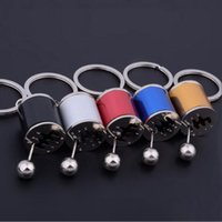 Wholesale Car Stalls Head - Nitrogen Key Chain Car Stalls Head Keychain Metal Male Key Ring Auto Bag Key Holder Jewelry for Men Women