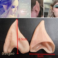 Banguo Lackingone 1Pair Halloween Kostüm Ohr Tipps Elf Fairy Hobbit Vulcan Spock Alien Cosplay