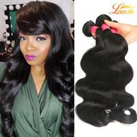 Wholesale 4pcs Wavy Virgin Hair - Longjia Human Hair Bundles Cheap 7A Brazilian Body Wave Virgin Hair 4pcs Lot Unprocessed Wet and Wavy Indian Loose Body Wave Hair