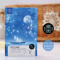 Wholesale Greeting Card Packs - Wholesale-30 pcs pack Fantastic Night View Luminous Greeting Card Postcard Birthday Gift Card Set Message Card