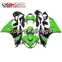 Wholesale Zx6r 11 - Green Black Injection ABS Plastic Fairings For Kawasaki ZX6R Ninja 636 09 10 11 12 2009 - 2012 Motorcycle Fairing Kit Fittings Bodywork New