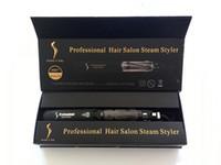 Wholesale Hair Steaming - 100% Original KangRoad Hair Straightener Professional Hair Iron Salon Steam Styler Tourmaline Ceramic Flat Irons with CE Rosh Towoto
