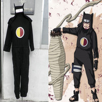 Wholesale Cosplay Naruto Boy - Naruto First Generation Kankuro Cosplay Costume Mens Boys Halloween Outfit Ninja Clothing Cartoon Character Halloween Clothing