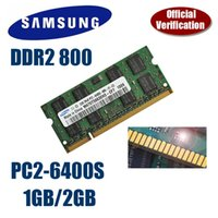 Wholesale Pc2 Sodimm - Samsung 1GB 2GB DDR2 800 SODIMM 800MHz PC2-6400 200pin notebook computer notebook memory Original authentic ram