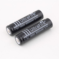 Wholesale Brand Rechargeable - Free Shipping 3.7V Rechargeable Battery 6000mAh 18650 Li-ion Rechargeable Battery for Flashlight Torch for UltraFire Brand New