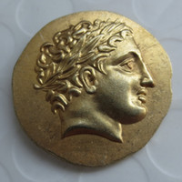 Wholesale King G - G(16)Ancient Greek Gold Stater Coin of King Philip II of Macedon - 323 BC copy coins