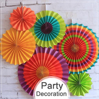 6 Teile / los Fans Papier Girlande Sommer Party Dekoration Set Hohle Gewebe Hängen Tropical Hawaiian Hochzeit Geburtstag Party Decor