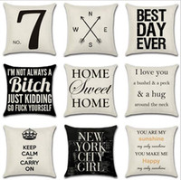 Wholesale woven seat cushion for sale - Group buy Letter Decorative Pillow Case Geometric Dot Wave Cross Cushion Cover for Sofa Seat Xmas Home Decor Black White YW67
