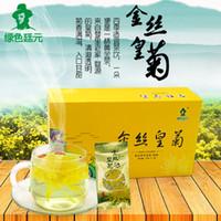 Wholesale Chinese Sachet - 1 Pack 20 sachets China Genuine WUYuan Chrysanthemum Tea Refreshing aromatic Flower Tea Blooming Tea Chinese wolfberry Tea Free Shipping