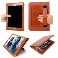 tampa de tampa de suspensão venda por atacado-Estojo de couro para apple ipad mini air pro 1 2 3 4 5 6 pro 10.5 11 12.9 Habitação de Luxo Com Auto WakeUp + Sono Capa Flip Tablet Holder GSZ379
