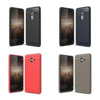 Wholesale Gel Mate - Soft Brush Carbon Fiber Case For HuaWei Mate 10 Pro 9 P10 P9 Lite Honor V9 7X 6A Slim TPU Gel Back Cover