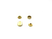 Wholesale Sewing Buttons 17mm - 50sets gold Brass Snap Fastener Press Stud Rivet Sewing Leather Button Craft Garment DIY Decoration Accessories 12 15 17mm