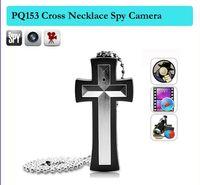 Wholesale Cross Camera Dvr - 480P 8GB Cross necklace camera,cross pendant pocket spy camera ,pendant hidden camera Camcorder Mini pinhole DV DVR Cameras PQ153