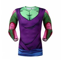 Wholesale Colorful Mens Clothes - Wholesale- Children Memory Japanese Fighting Anime Dragon Ball Goku Print T-shirt Colorful Tshirt Boy Tee Mens Clothes