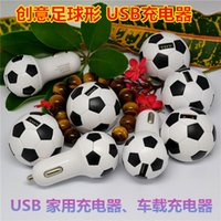 Wholesale Usb World Cup - High Quality 5V 1A World Cup Soccer Football Car Charger Adapter for iPhone 5 5C 5S Samsung Galaxy S4 S5 Note 3 etc