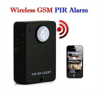 Wholesale Cheap Remote Alarms - Hot Cheap Mini Wireless A9 PIR Alert Sensor Motion Detector Anti-theft GSM Alarm System Monitor Remote Control