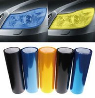 "Wholesale Light Black Tint Headlights - 30cmx1m 12""x40"" Auto Car Sticker Smoke Fog Light HeadLight Taillight Tint Vinyl Film Sheet Car Decoration Decals"