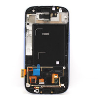 Wholesale Glass S3 Original - With mid-frame for Samsung Galaxy S3 i9305 Original LCD Display Touch Screen Digitizer Glass Full Assembly Panel Tactil Ecran