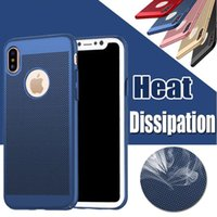 Wholesale Heat Cards - Heat Dissipation Hollow Breathable Armor Hard Back PC Case For iPhone 5 5S SE 6 6S 7 Plus iPhone7 iPhone8 X Samsung S8 Plus Note8 Huawei P10