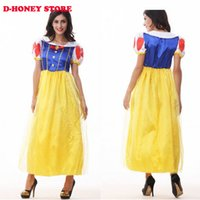 Wholesale Dresses Woman Princess - Adult Snow White Costume Sexy Snow White Cosplay dress Fantasia Halloween Costumes For Women Princess Dress Fancy party dress