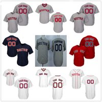 Wholesale Navy Kids Shorts - Customized Boston Red Sox Mens Womens Youth Kids Gray Road White Navy Blue Throwback Custom Stitched Your Any Own Name Number Jerseys S-4XL