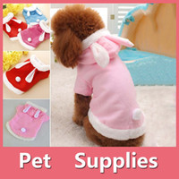 Wholesale Red Rabbit Costume - Rabbit Style Dog pet Jacket Supplies Dog Clothes Rabbit Winter Apparel Puppy Costume Warm With 3 Colors