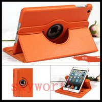Wholesale Ipad Covers Stands Best - Best Quality 360 Rotary PU Leather Case Cover For iPad mini4 3 2 1 mini retina Magnetic Case Stand