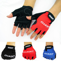 High End Medio Finger Hombre Guantes Ciclismo Mitts Mitten Bicicleta Bike Riding Conducción Ciclismo Racing Guantes Ciclismo Gratis DHL Factory Direct