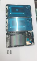 Wholesale Home Button 3g - Samsung Galaxy Note3 N900 3G N9005 4G N900A ATT N900V USCC LCD Frame Front Housing Middle Frame Bezel Plate + Home Button, Silver Color